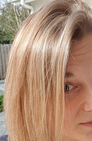 Mes cheveux quelques semaines après le changement
